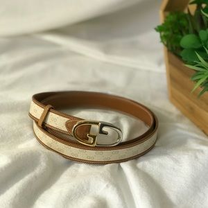 1d0fc0095 VTG Gucci Canvas and Leather Belt for sale